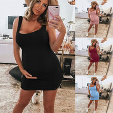 2019 pregnant Women pregnancy dress Print Sleeveless Maternity  Dress Props Bodycon Casual  Dressmaxi maternity  dresses