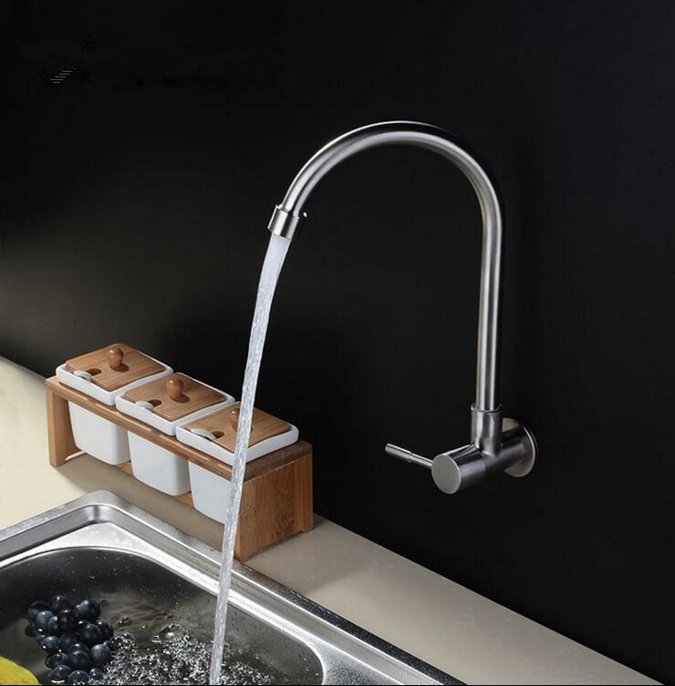 rubinetti della cucina montaggio a parete promozione-fai spesa di ... - Muro Angolo Di Montaggio Lavello Singolo Foro Rubinetto