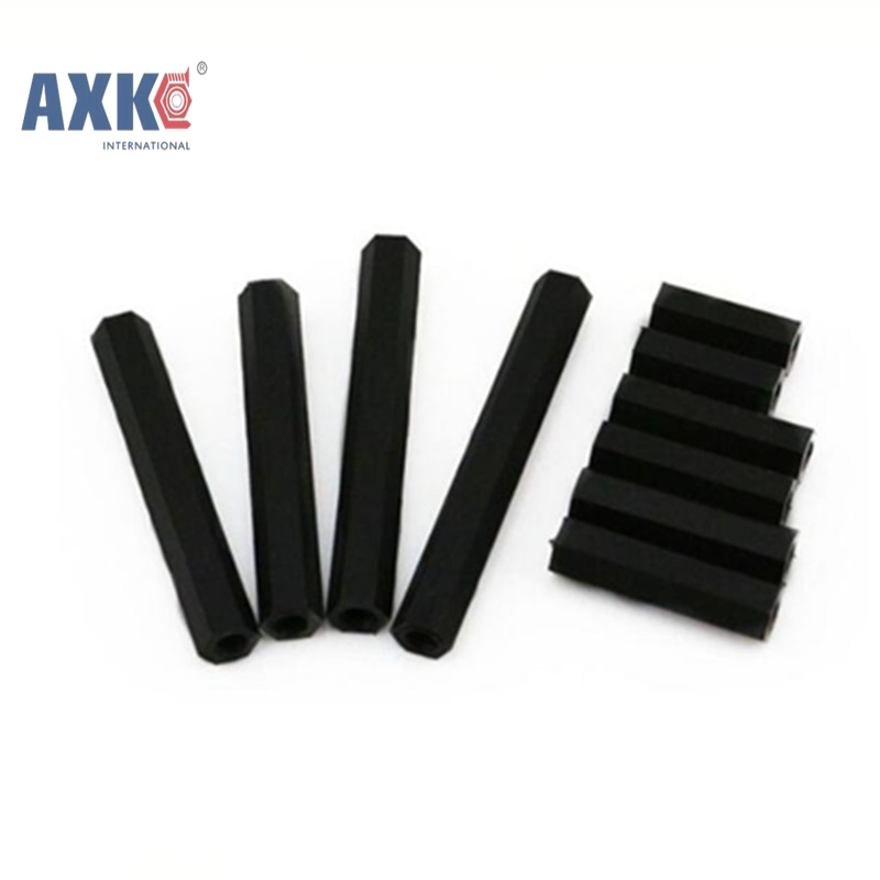 50Pcs M2.5 M3 M4 Hex Nylon Standoff Spacer Column Flat Head Double Pass Nylon Plastic Spacing Screws NL24