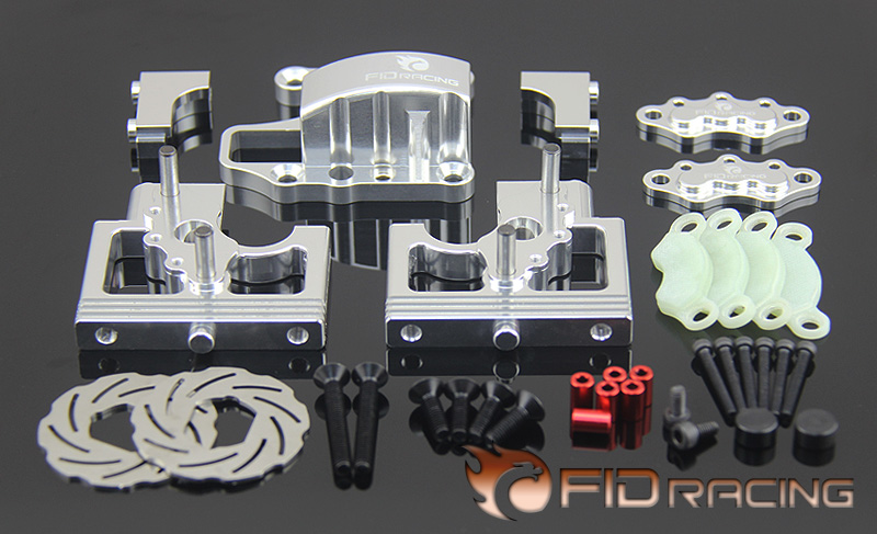 FID Centre Differential Bracket with Cover Adjustable Calipers Disc Brake Version for 1/5 Scale RC Truck LOSI DBXL DBXL E