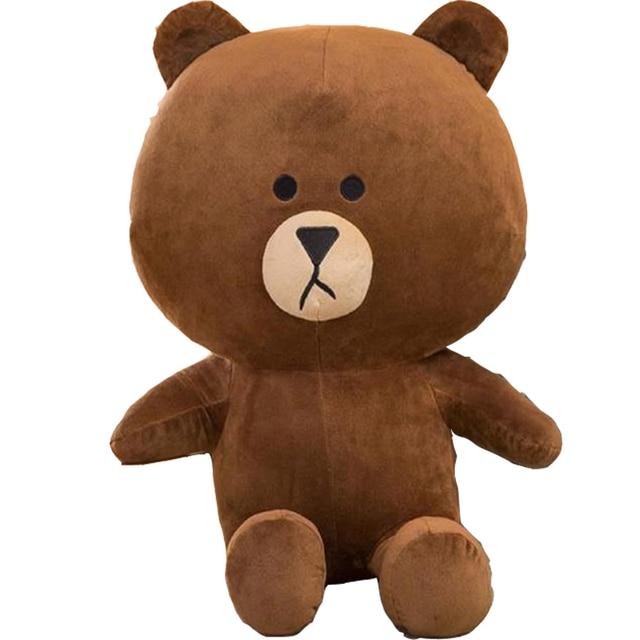 35cm/13.7inch Brown Bear and Cony Rabbit Plush Toy Korean Animal Cartoon Figure Stuffed Flufy Soft Kids Doll Cute Gifts For Girl