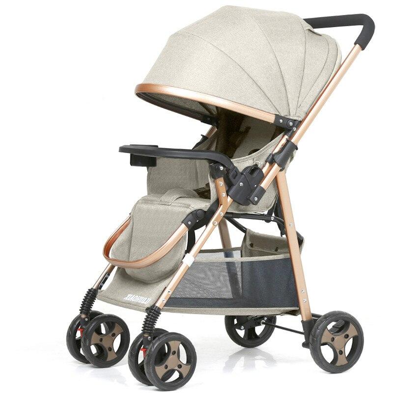 Baby stroller can sit reclining folding ultra light portable shock two way baby umbrella newborn child