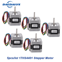 5Pcs/lot 17HS4401 Stepper Motor Nema17 Stepper Motor Hybrind 42 Motor 2 Phase 1.7A Nema 17 Motor For 3D Printer CNC XYZ