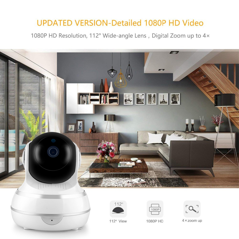 Image 2 - Lonsonho Smart Wifi IP Camera Wireless Home Security 1080P 2MP Two Way Audio Motion Detector IR Night Vision Tuya Smart Life APP-in Surveillance Cameras from Security & Protection
