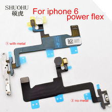 shuohu brand Power Flex Cable for iPhone 6 Switch On Off Ribbon Flex Cable Sensor Proximity flex cable replacement