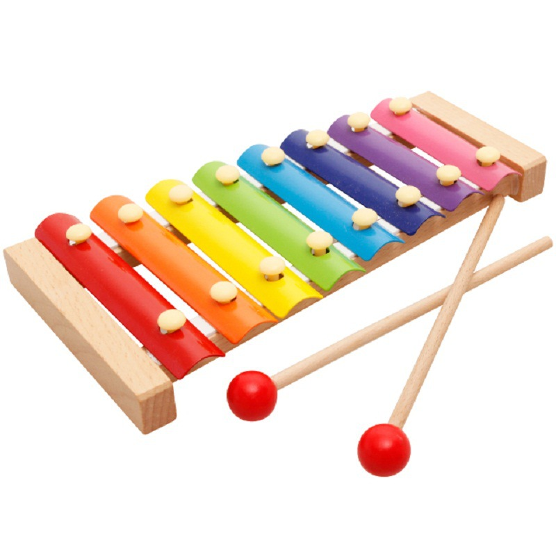 Music Instrument Toy Wooden Frame Style Xylophone 8 Scales Kids Musical Funny Toys Baby Educational Toys for Children Gifts