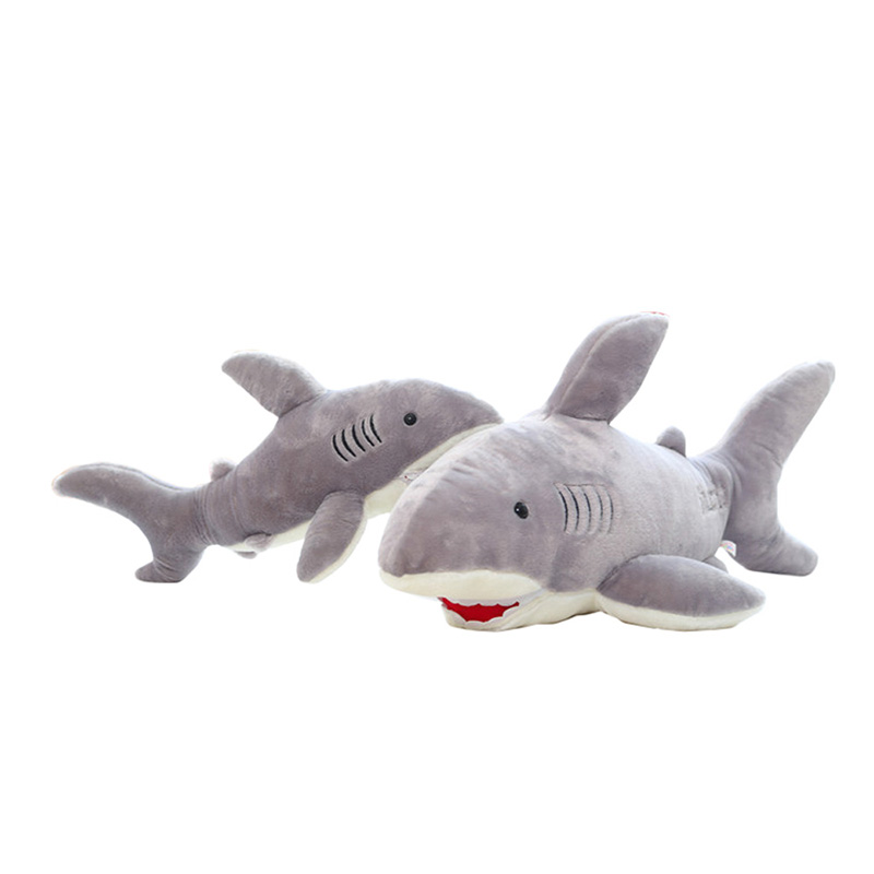 Great White Shark Plush Toys Cute Pillow Warm Gift For Girls Boys