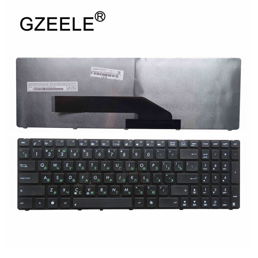GZEELE NEW Russian Laptop Keyboard FOR ASUS K70I K70ID F90 F50 F52 F52q X5DC X5DIJ X50IJ X5DIN With BLACK Frame RU New Keyboard