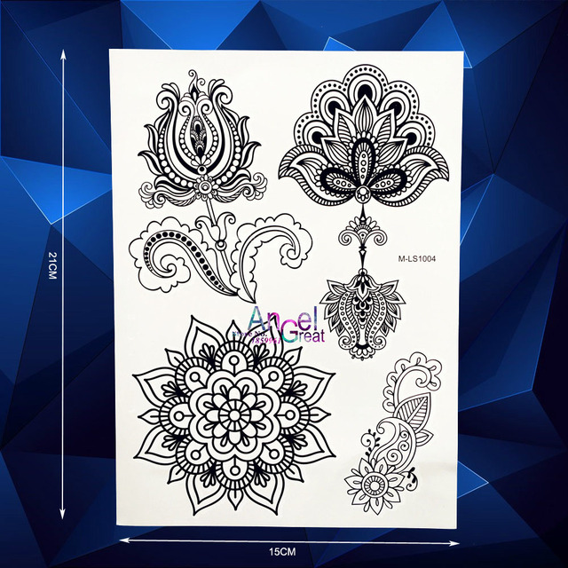 1pc New Mixture Picture Designs For Sexy Women Henna Temporary