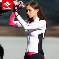 Santic 2019 New spring Cycling Long Sleeve Pro Team Jersey Sunscreen Moisture Wicking Quick Dry Breathable Bike Jacket Female