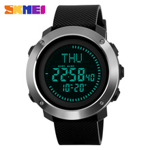 SKMEI Compass Sports Watches Men LED Display Digital Watch O