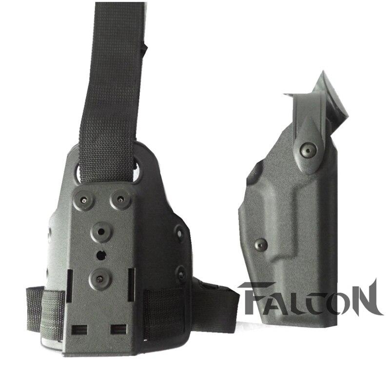 Hot!Safariland Glock 17 18 19 22 31 32 Spistol Leg Holster Tactical Gun Military Airsoft Leg Holster CS Game Gun Pouches Holster