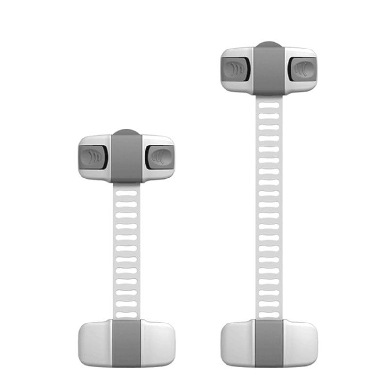4Pcs/Lot  Baby Cabinet Door Drawers Refrigerator Lock Adjustable Plastic Locks Safety