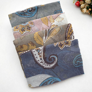 Image 2 - 女性の綿のスカーフ春女性のショール薄型夏エスニックスタイルの女性教徒ヘッドスカーフスカーフ秋