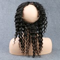 Pre Plucked 360 Lace Frontal Closure Brazilian Virgin Hair Deep Wave Natural Hairline Lace Band Frontal Closure With Baby Hair