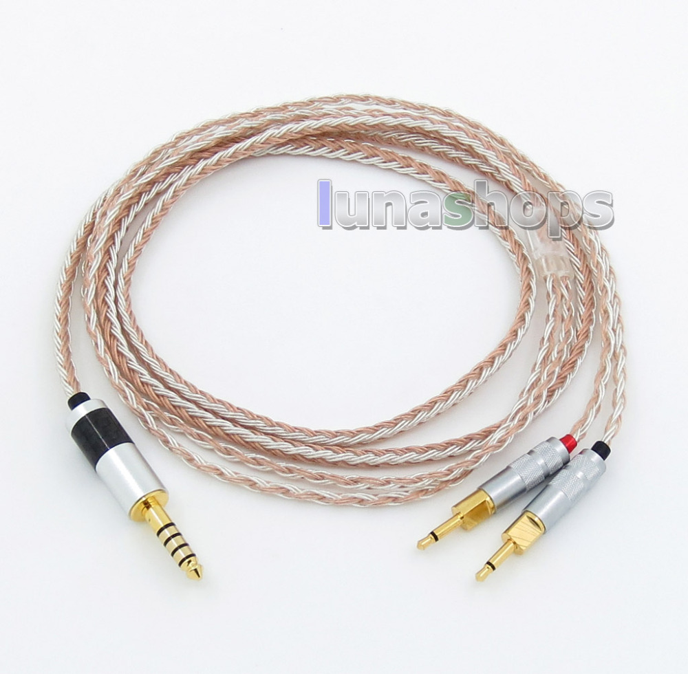 4.4mm 16 Cores OCC Silver Plated Mixed Headphone Cable For Sennheiser HD700 LN005790 hd650 hd600 hd580 hd525 headphone upgrade cable occ silver plated