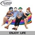 Yuetor 52 Пляж лежал мешок Притон sleep Air Bed Lounger laybag Открытый быстро складывая спальный надувной воздушный диван ленивый мешок