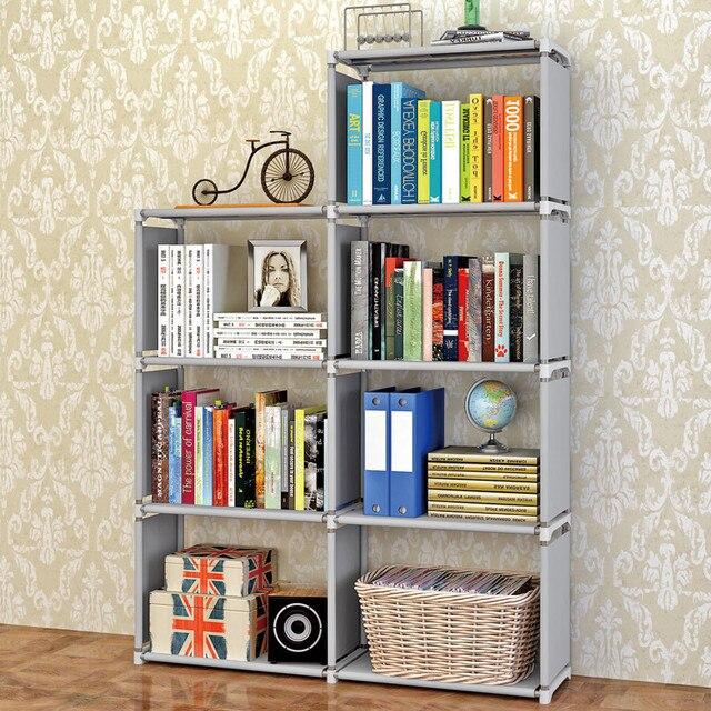 ชั้นวางหนังสือโมเดิร์นยืนชั้นวาง DIY มัลติฟังก์ชั่ชั้นวาง 4 ชั้น 5 ชั้น Combination Home เฟอร์นิเจอร์ Book Case