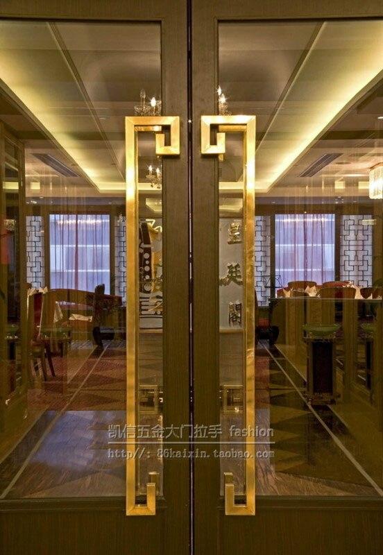 Квадратная стеклянная ручка двери китайская титановая рама из нержавеющей стали деревянная дверная ручка Современная дверная ручка KTV