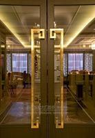 Площадь стеклянной двери ручка китайский нержавеющей стали Titanium Рама деревянная дверь ручка дверная ручка современный KTV