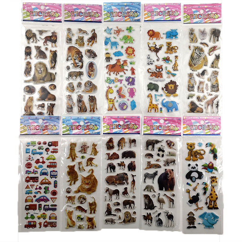 10Sheets Different 3D Cute Cartoon Stationery Sticker Pegatinas Funny For Children On Scrapbook Phone Laptop Gifts Animals Tiger10Sheets Different 3D Cute Cartoon Stationery Sticker Pegatinas Funny For Children On Scrapbook Phone Laptop Gifts Animals Tiger
