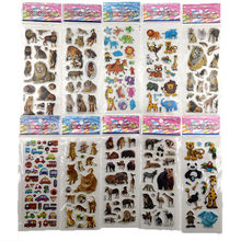10Sheets Different 3D Cute Cartoon Stationery Sticker Pegatinas Funny For Children On Scrapbook Phone Laptop Gifts Animals Tiger(China)