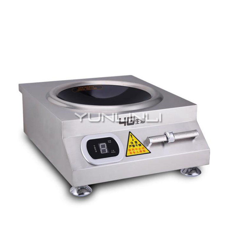 Commercial Induction Cooker 5000W Large Power Electric Cooker Stainless Steel Concave Induction Stove 50A6-2