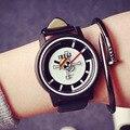 2017 Fashion Skull One Piece Sport Watch EXO PU Leather Quartz Wristwatch for Men Boy Women Girl Student Gift