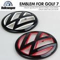 For New Golf 7 Gti MK7 Painted Color VW logo Emblem Car Front Grille Badge Rear Lid Back Door Mark Golf7 VII Styling