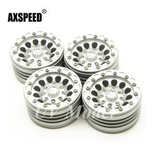 Silver High Quality Aluminum RC Car 1.9 Crawler Wheels 1/10 Scale 1.9inch Beadlock Wheels Rims For SCX10 CC01 F350 D90(China)