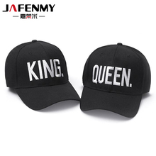 5dd408895a5 Hot Sale KING QUEEN Black Embroidery Snapback Hat Men Women Couple Baseball  Caps Dad hat Casquette