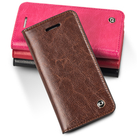 For IPhone 5 5S Top Quality Luxury Genuine Leather Magnet Flip Cover Case Insert Card Mobile