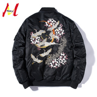 MANVALUE New Chinese Custom Crane Embroidery Yokosuka Uniform for Spring 2019 Men's Youth Stand up Collar Jackets