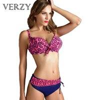 2016 New Plus Size Bikinis Women Sexy Push Up Bikini Padded Bra Brazilian Biquini Halter Neck