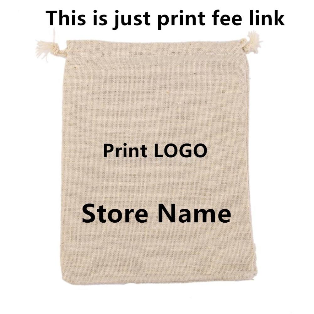 Linen Cotton/ Velvet/ Jute Bag print Logo fee need $33 (just print fee not including bag fee 500pcs ) this is only print fee design fee for plastic bag usd50