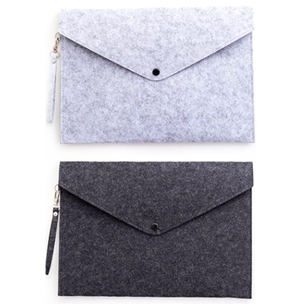 Multi-Functional  Portable Felt Holder Envelope Office Briefcase Document Bag Paper Case A4 FoldersTravel Outdoor Storage