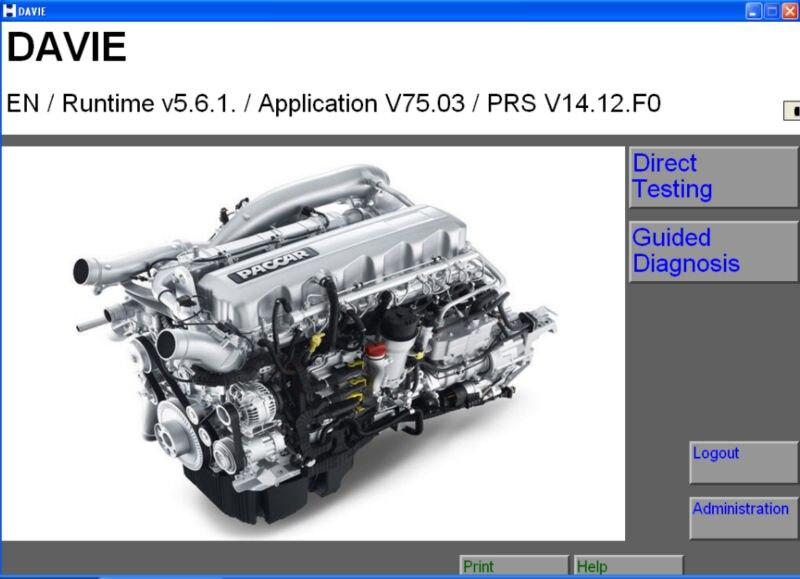 Prix pour DAF Davie Runtime 5.6.1 (Windows 7 32bit pris en charge) pour Paccar + licence + Expirent Fix 300.02 Keygen