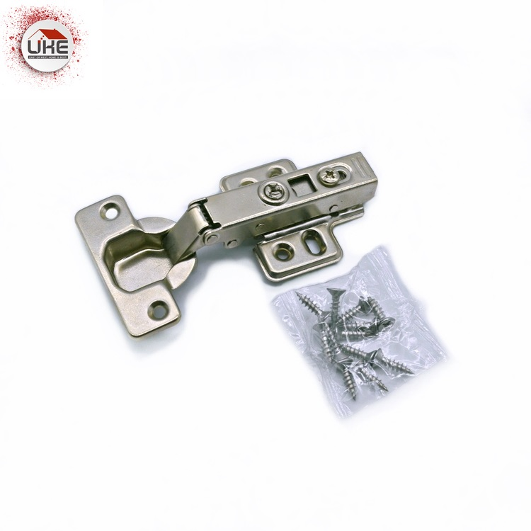 UKE Excellent Cold Steel Full Overlay Cabinet Hinge Soft Closing Clip On Furniture Hinge For Wood Door Or Aluminum Frame Door