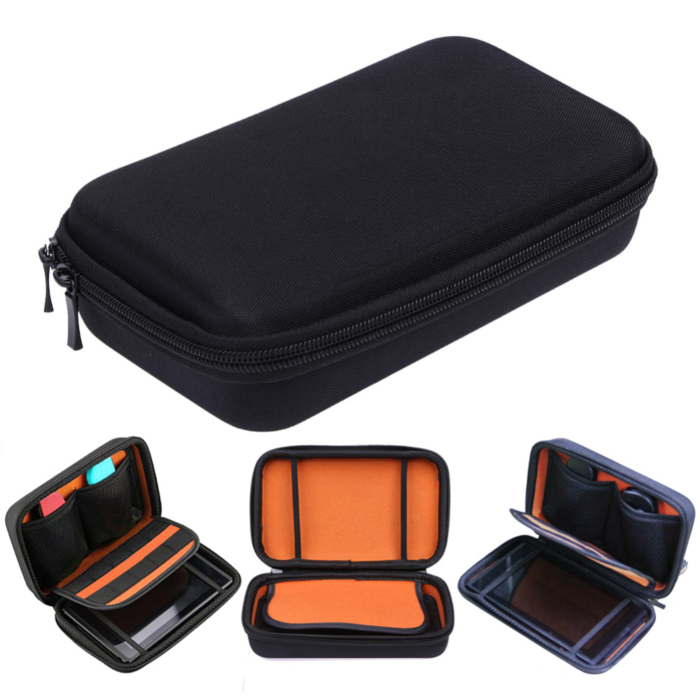 Black Hard EVA Pouch Bag Protective Travel Carring Case Storage Box Holder With Strap For Nintendo Switch Gamepad Console