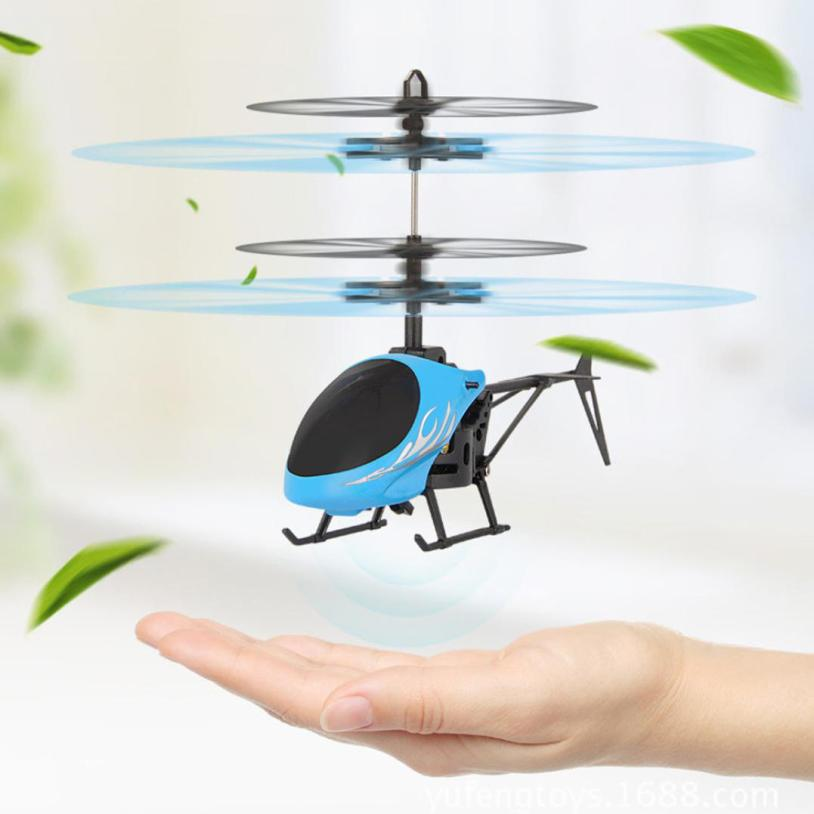 Flying Mini RC Infraed Induction Helicopter Aircraft Flashing Light Toys For Kids Z926