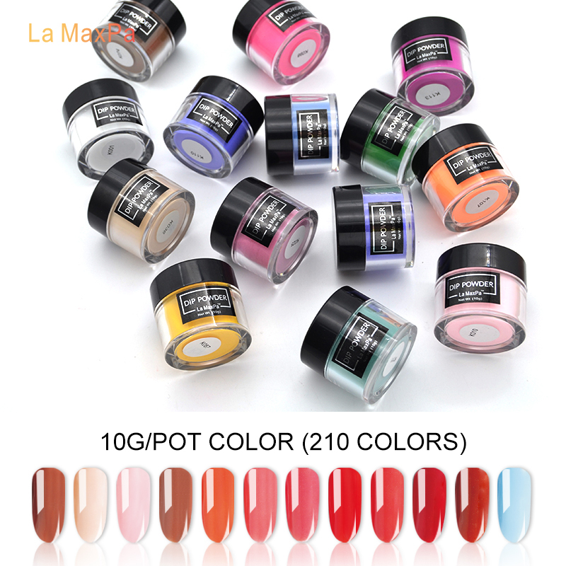 LaMaxPa nail glitter dip powder new arrival natural dry no UV Light high adhesion dipping powder nails set nails art&tools(China)