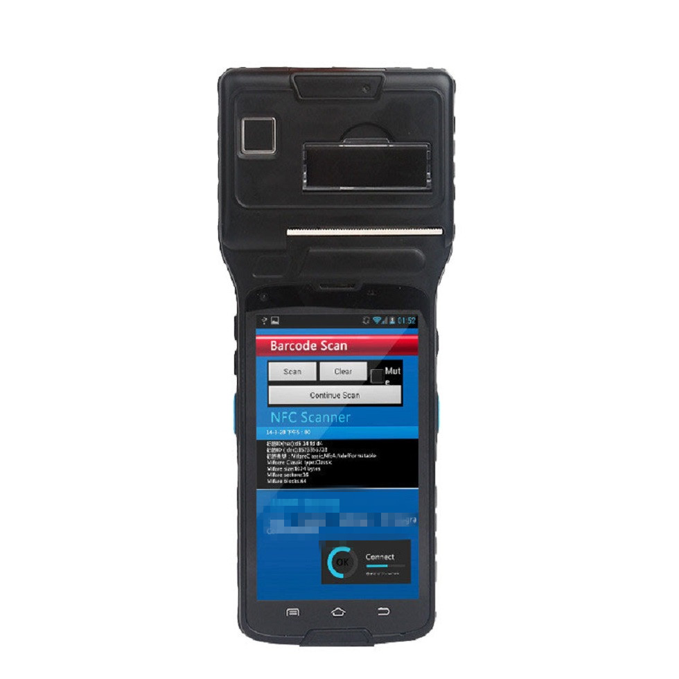 Industrial Android Tablet PDA with Built-in 1D Barcode Scanner,NFC, Thermal Printer WIFI Bluetooth 4G LS550S(1D)