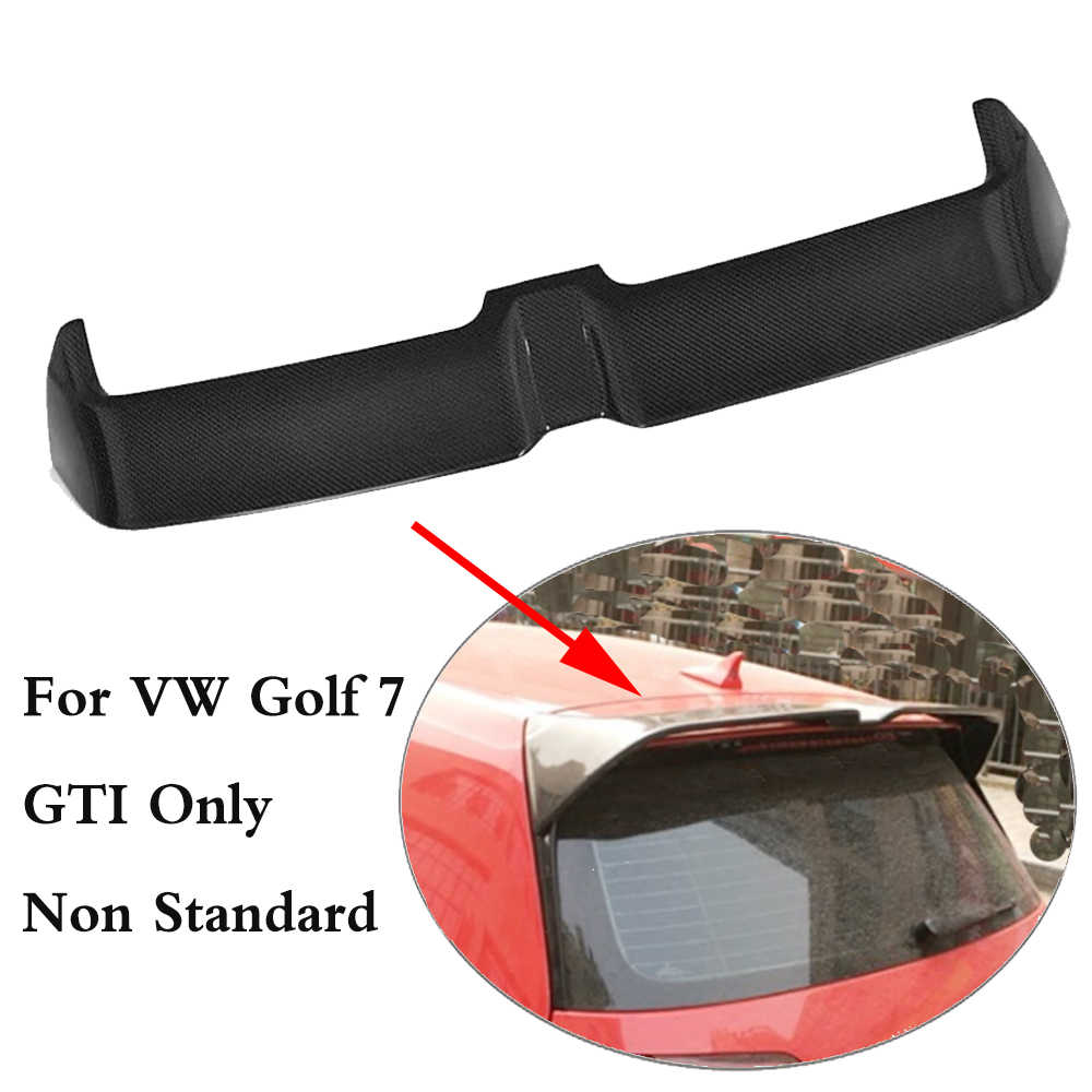For Golf 7 GTI Carbon Fiber Rear Roof Trunk Wing Spoiler for Volkswagen VW Golf 7 VII GTI R 2014-2017 Non Standard O Style ABS