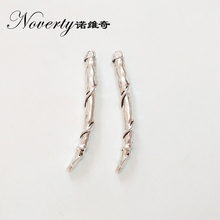 New 4pieces  50*10MM Retro Silver Zinc Alloy Fangs Charms Pendant for DIY Necklace Jewelry Accessories Gifts Free Shipping