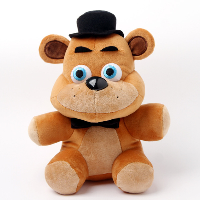 Freddy Fazbear felpa del oso 25 cm cinco noches At de Freddy 4 FNAF Freddy Fazbear oso juguetes de peluche muñeca rellena suave del juguete de regalo para niños