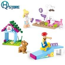 New Original Friends Building Blocks Toys Compatible With Legoelieds For Girls City Playmobil Sluban Pet Beauty Skate