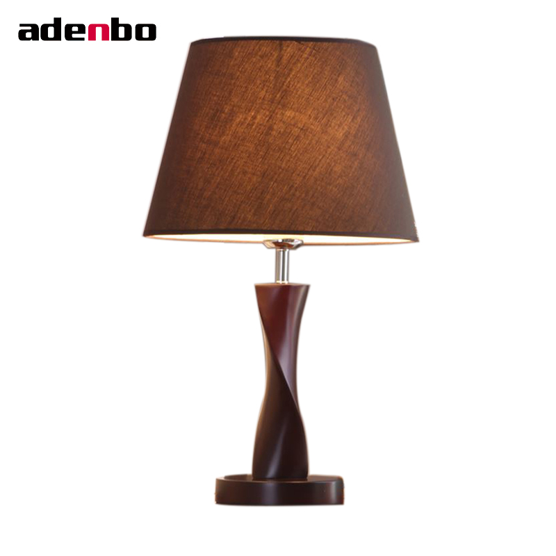 New Desk Lamps Modern Wooden Bedroom Lights Fabric Table Lamps For Bedroom Living Room Lighting Home Decoration new 2017 modern table lamps metal personalized desk lamp with glass shade for beside home decor for bedroom living room
