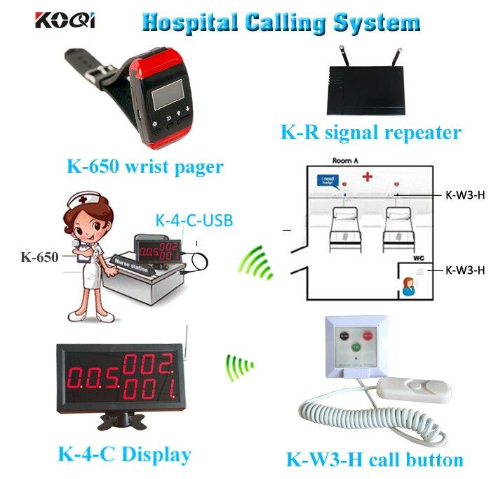 Ycall 433mhz bouton d'appel d'urgence montre-bracelet téléavertisseur avec amplificateur pour système d'appel patient