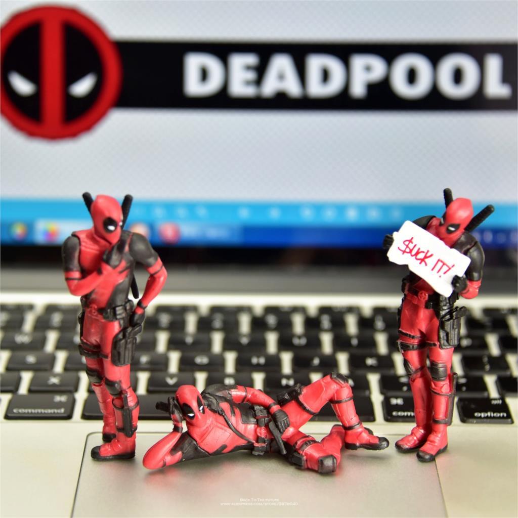 Disney Marvel X-Mannen 8cm Deadpool 2 Action Figure Houding Anime Decoratie PVC Collection Beeldje Speelgoed model voor kinderen gift