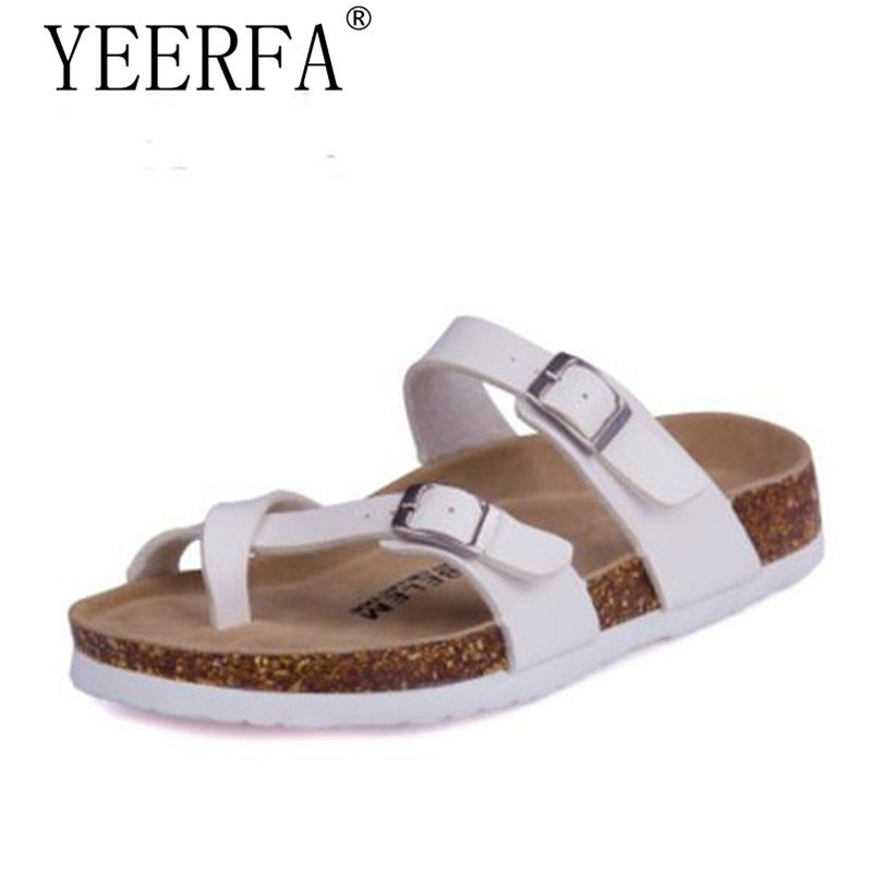 size 35-45 Woman Cork Sandals Slipper 2018 New Women Summer Mixed Color Casual Beach Slip on Flip Flops Slides Shoe Flat yierfa beach flowers flip flops 2017 new wedges sandals casual platform shoes woman slip on creepers flats slippers size 35 40